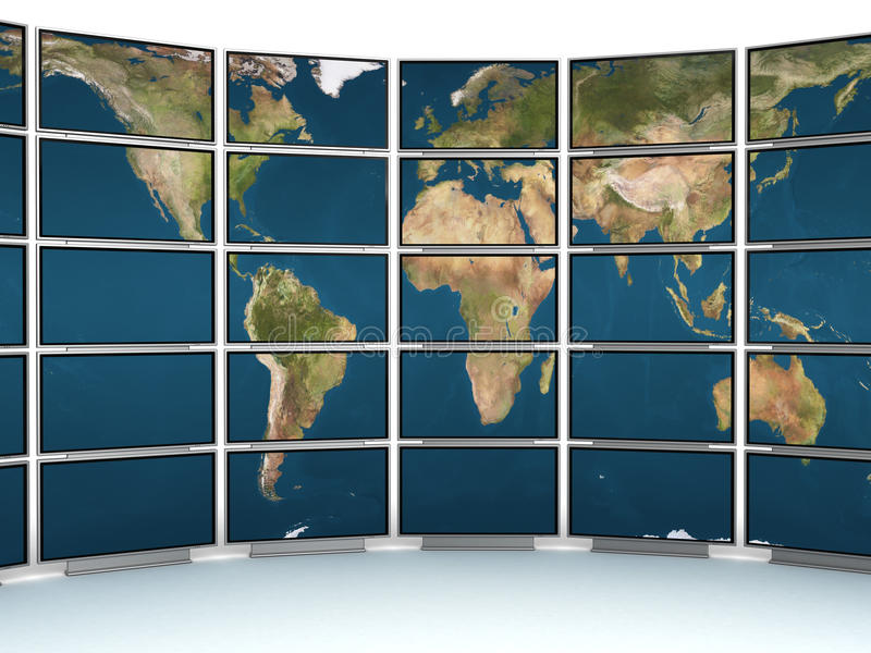 Mur de TV illustration stock