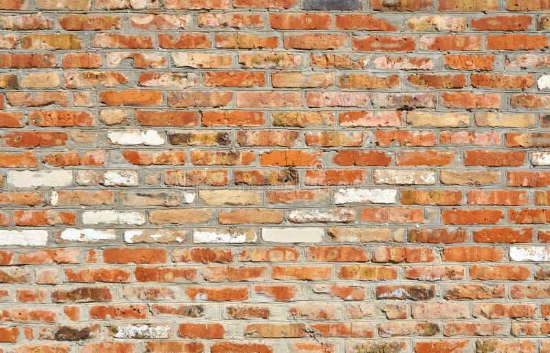 Mur de vieille brique rouge pour l'usage comme texture de fond photos libres de droits