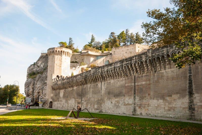 Mur de ville d'Avignon, France images libres de droits
