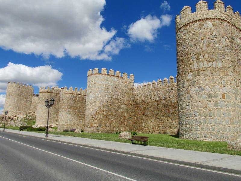 Mur de ville d'Avila photographie stock libre de droits