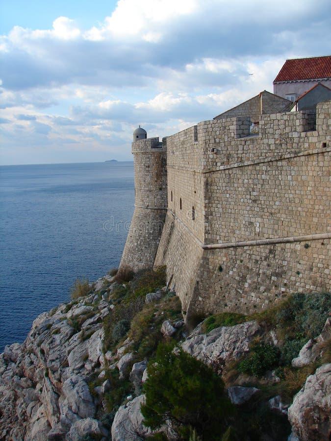 Mur de ville de Dubrovnik image libre de droits
