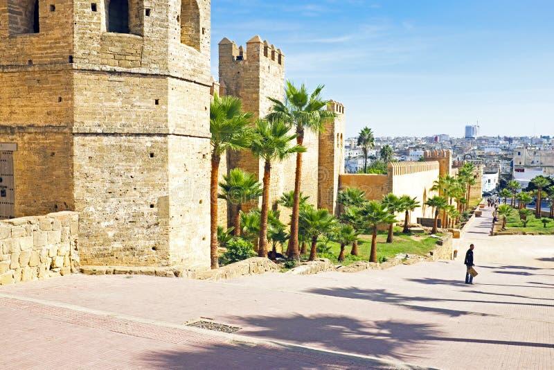 Mur de ville de vieux Rabat Maroc Afrique images libres de droits