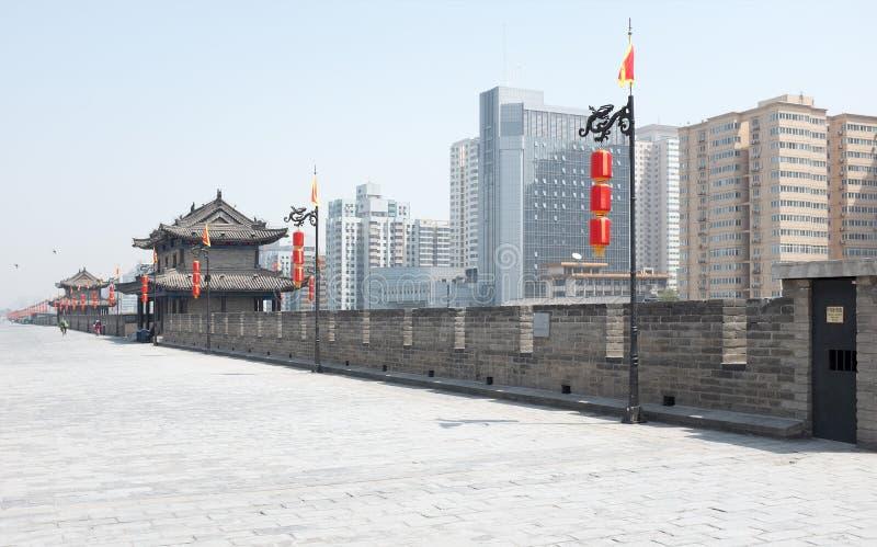Mur de ville de Xian image libre de droits