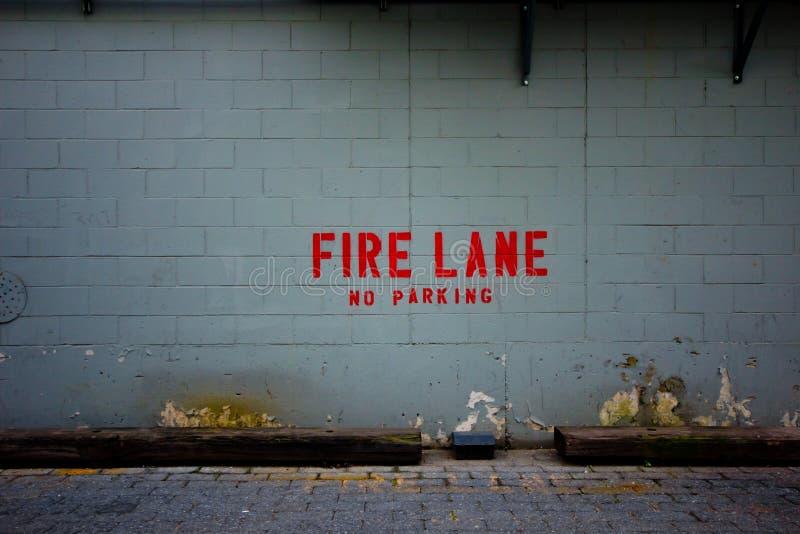 Mur de voie d'incendie photographie stock libre de droits