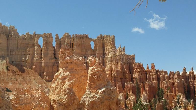 Mur de Windows en Bryce Canyon images libres de droits