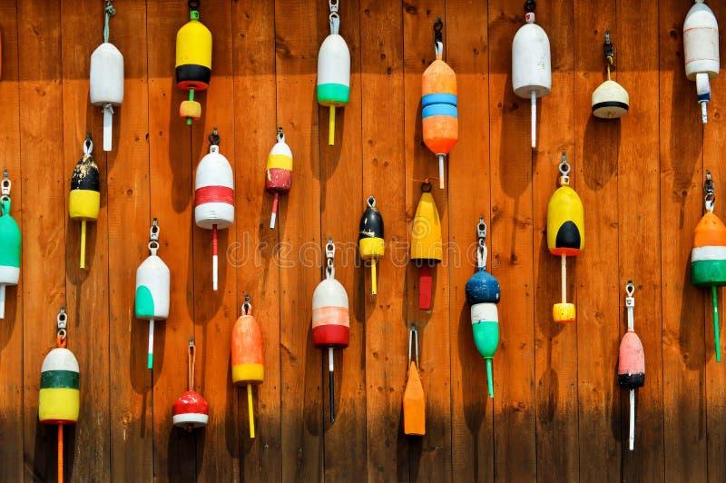 Mur des balises colorées de homard photo stock