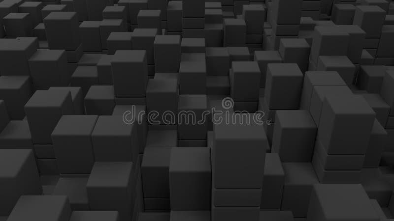Mur des cubes gris illustration de vecteur