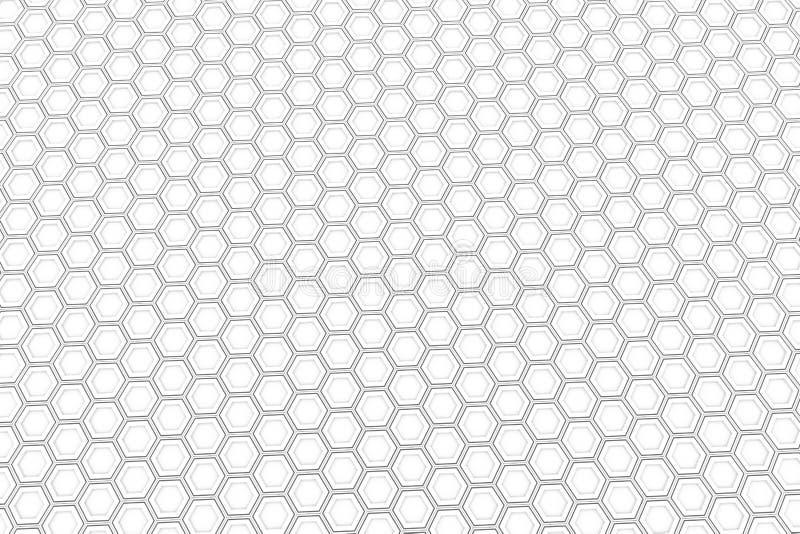 Mur des hexagones blancs illustration stock