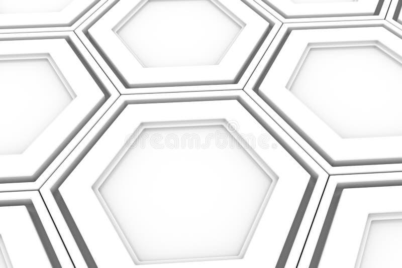 Mur des hexagones blancs illustration libre de droits