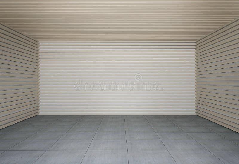 Mur des lamelles en bois illustration stock