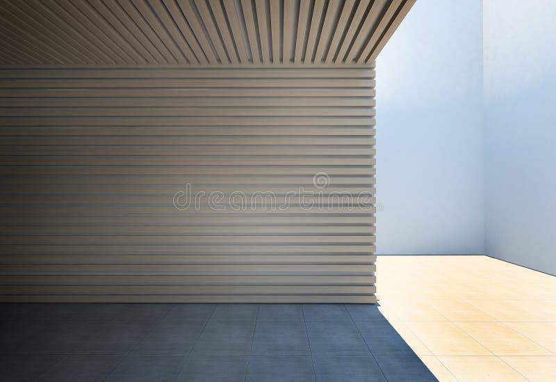 Mur des lamelles en bois illustration libre de droits