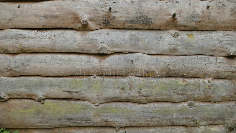 Mur des logs photo libre de droits