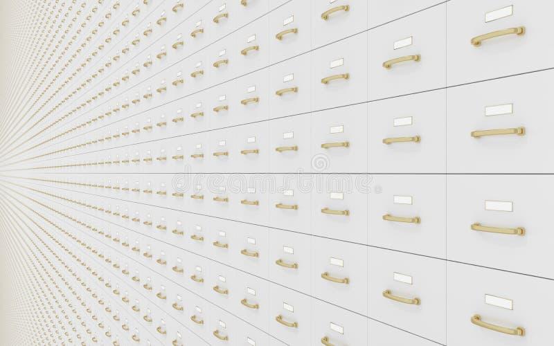 Mur des meubles d'archivage photos stock