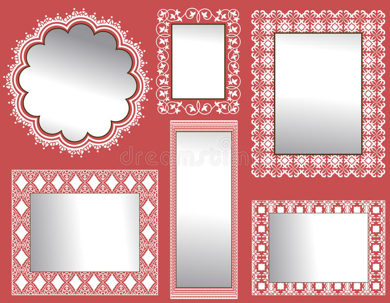 Mur des miroirs illustration stock