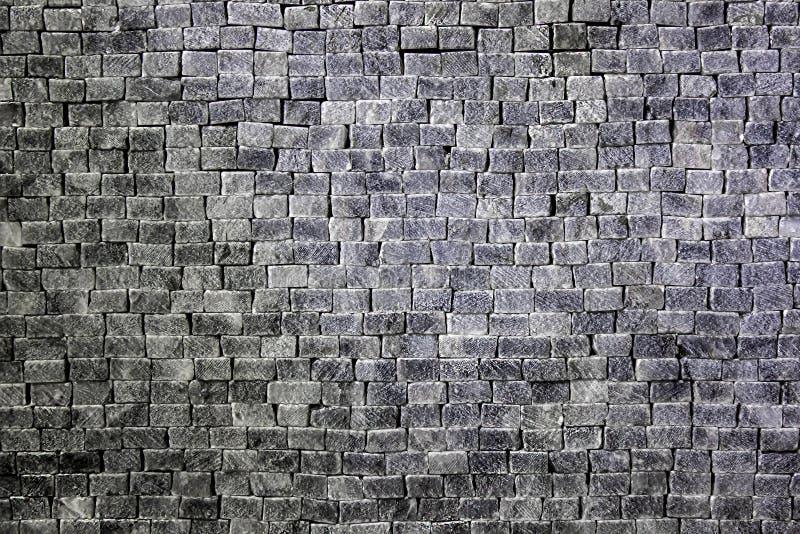 Mur des pierres et des briques blanc gris rectangulaires images libres de droits