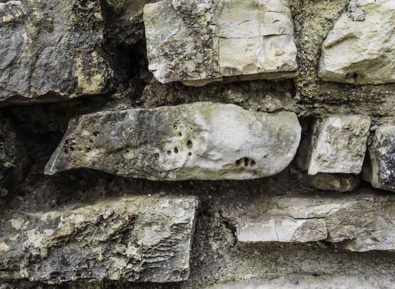 Mur des pierres Taille différente Forme différente Fond Texture images libres de droits