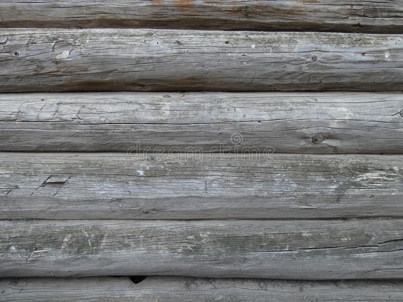 Mur des rondins en bois photo libre de droits
