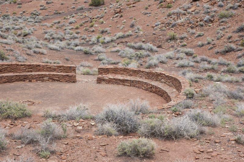 Mur DSC_0090D70 en pierre circulaire aux Etats-Unis du sud-ouest photo libre de droits