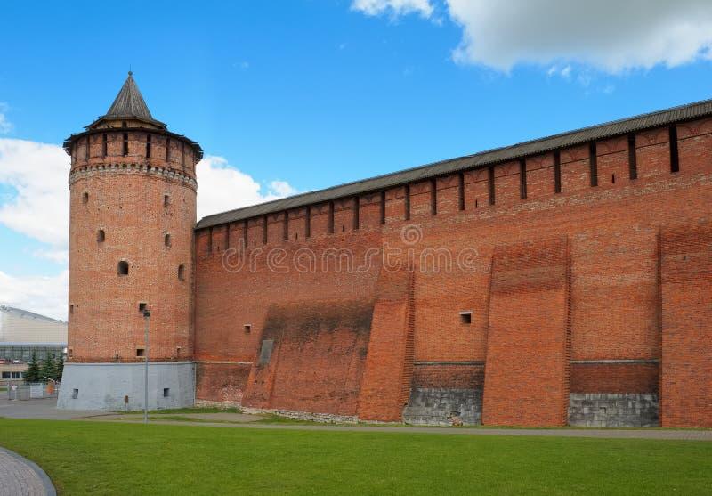 Mur du Kolomna Kremlin images libres de droits
