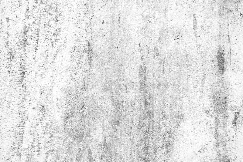 Mur en béton blanc criqué de vieux grunge photos stock