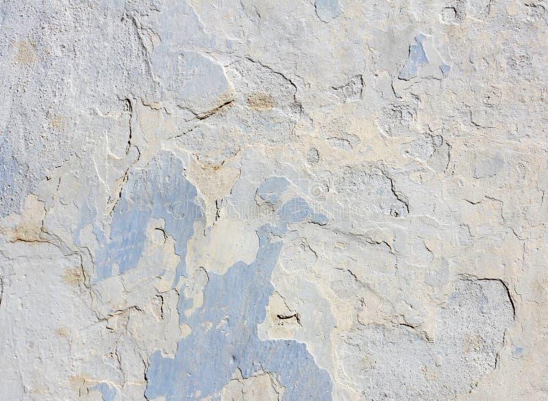 Mur en béton bleu avec éplucher la vieille peinture, texture photos libres de droits