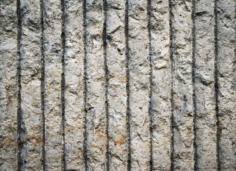 Mur en béton cannelé vertical image libre de droits