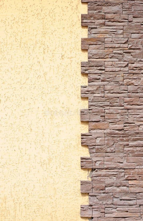 Mur en béton jaune grunge photographie stock