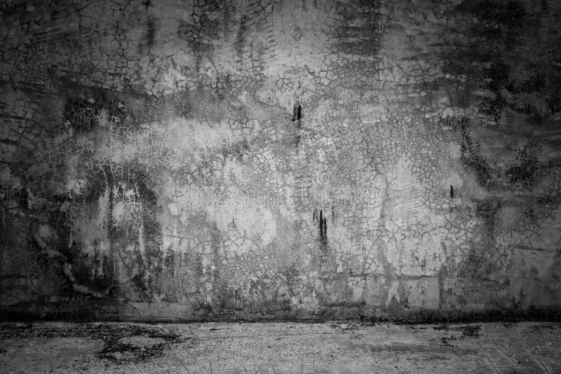 Mur en béton sombre et plancher de fond de pièce abstraite de noir photographie stock