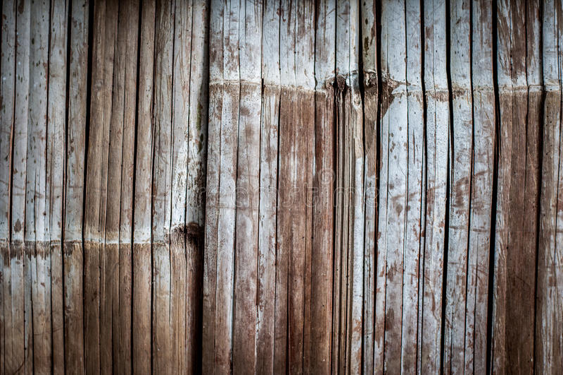 Mur en bambou images libres de droits