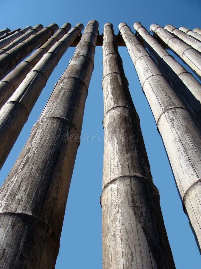 Mur en bambou photographie stock libre de droits