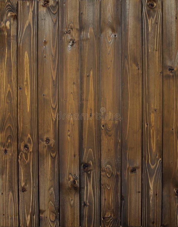 Mur en bois avec les planches verticales Fermez-vous des vieux panneaux en bois d'une barrière image libre de droits