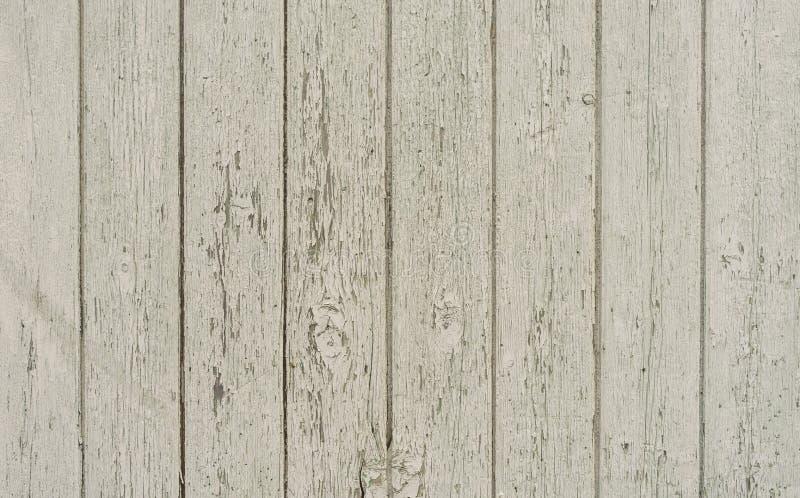 Mur en bois blanc superficiel par les agents photo stock