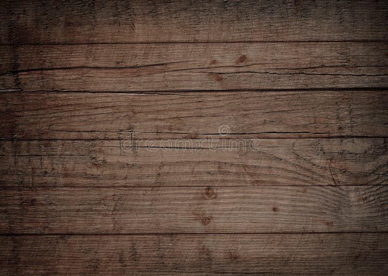 Mur en bois de Brown, planches, table, surface de plancher Texture en bois foncée photos stock
