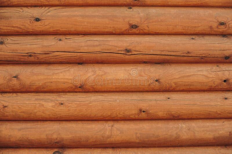 Mur en bois des logarithmes naturels photo libre de droits