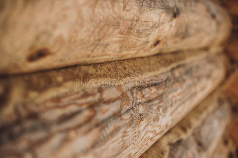 Mur en bois des logarithmes naturels image stock