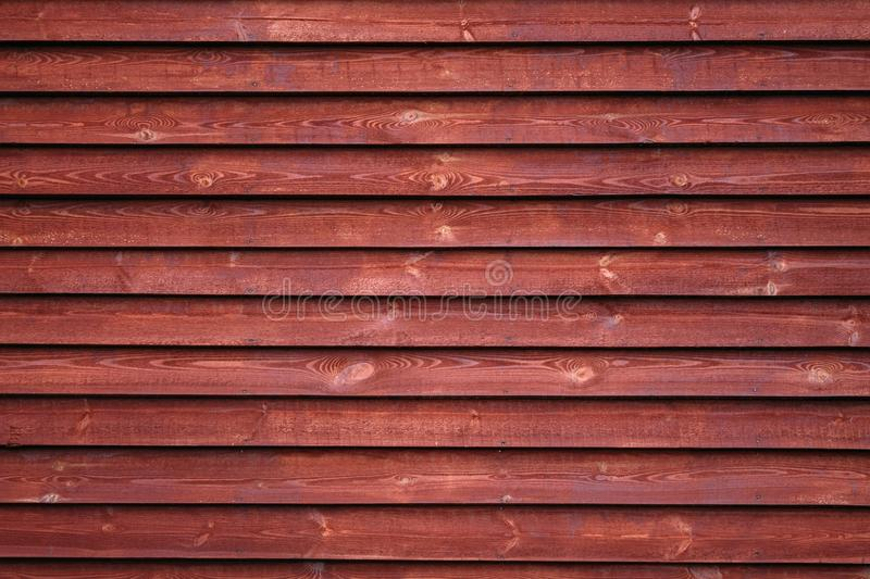 Mur en bois rouge photo stock