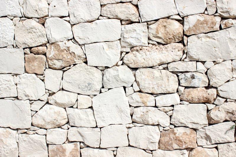 Mur en pierre blanc de vintage photographie stock