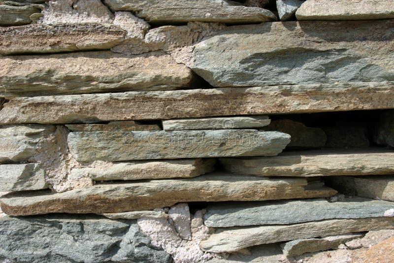 Mur en pierre d'ardoise photos libres de droits
