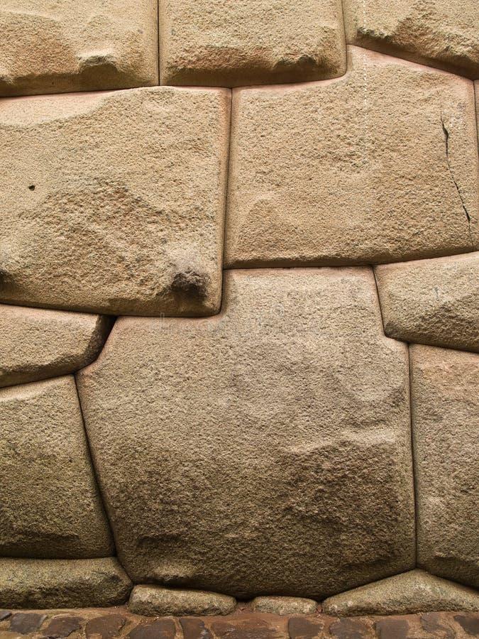 Mur en pierre d'Inca image libre de droits