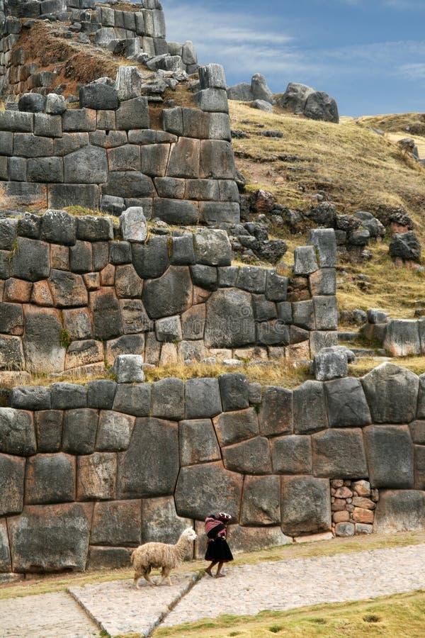 Mur en pierre d'Inca images libres de droits