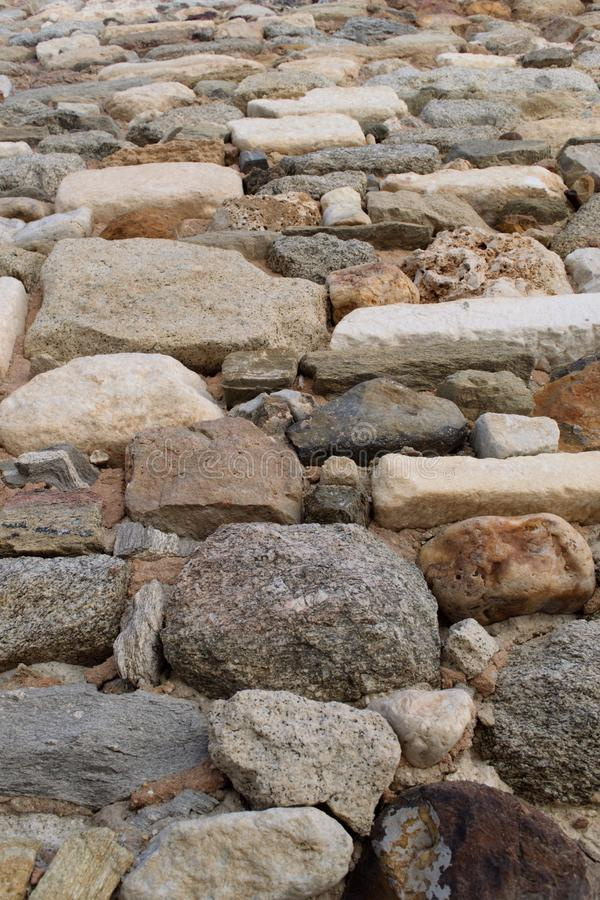 Mur en pierre d'un château médiéval images libres de droits