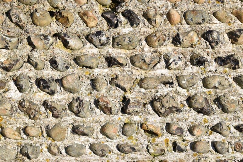 Mur en pierre de silex photographie stock