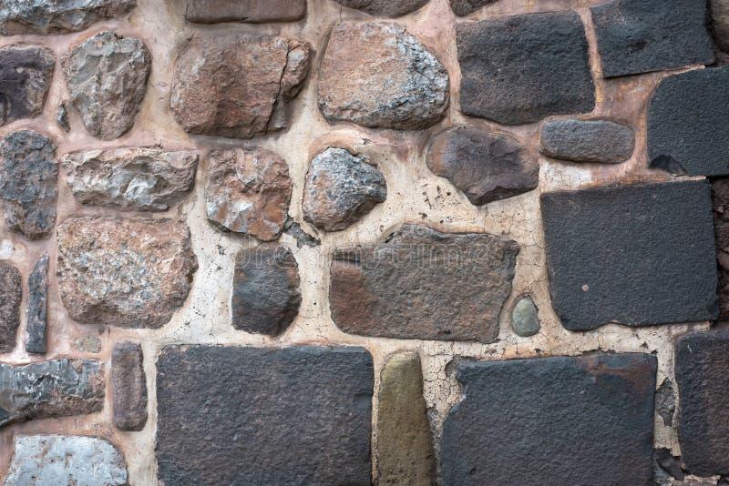Mur en pierre du Pérou image stock