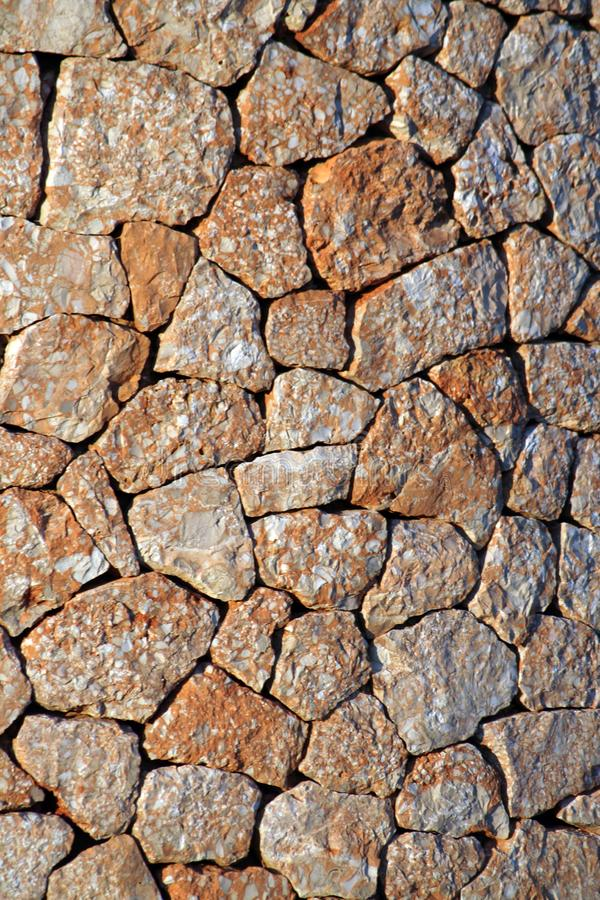 Mur en pierre espagnol image stock
