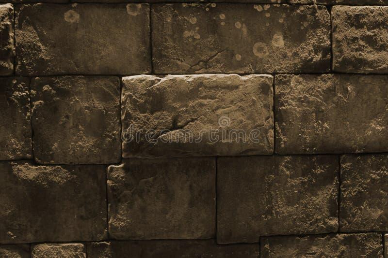 Mur en pierre gris Modèle rectangulaire de brique photographie stock libre de droits
