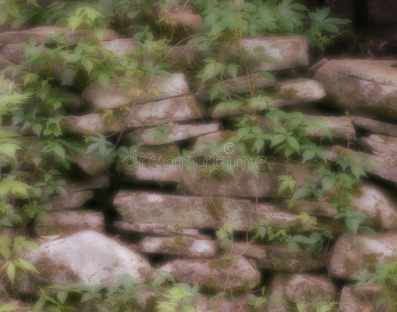 Mur en pierre rêveur image libre de droits