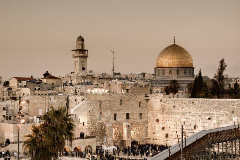 Mur et dôme occidentaux de la roche photos libres de droits