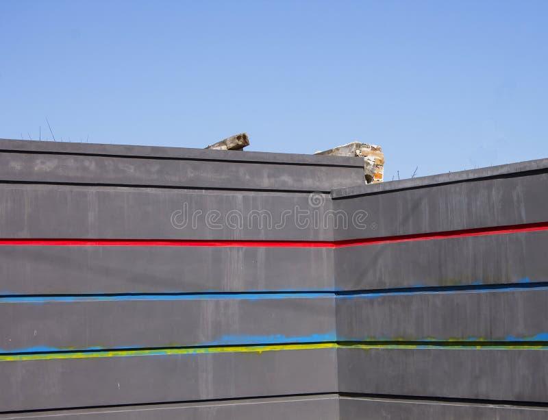 Mur et l'architecture de la ville, fond photos libres de droits