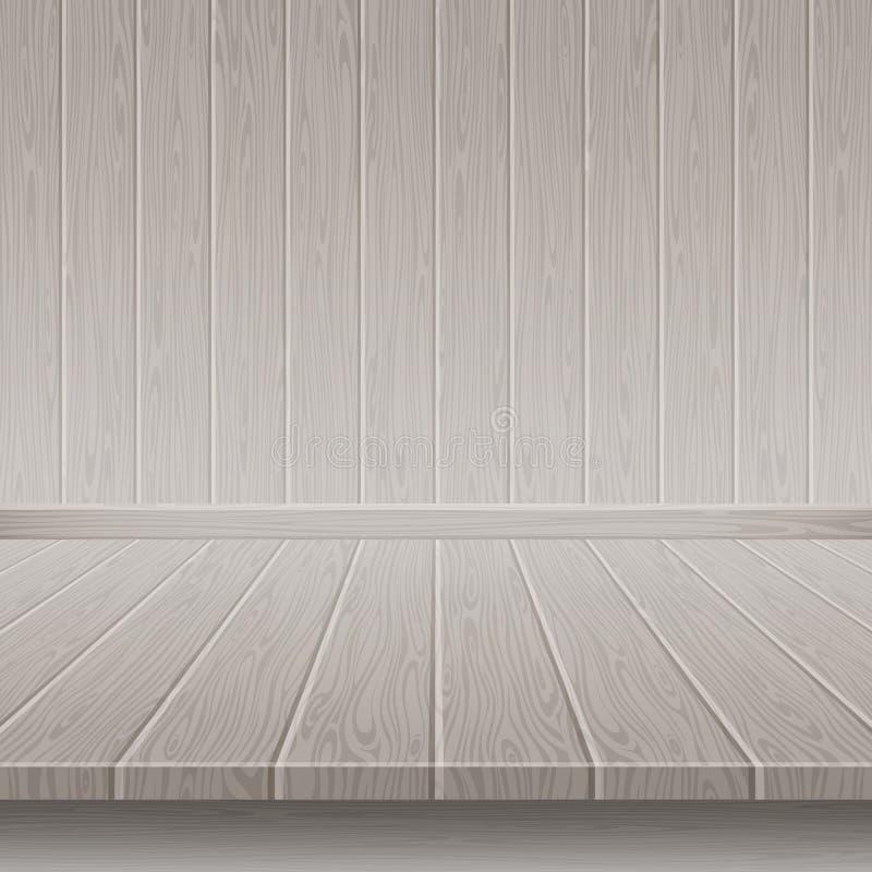 Mur et plancher en bois gris illustration libre de droits