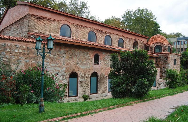 Mur extérieur d'église d'Aya Sofya dans Iznik, Turquie images stock